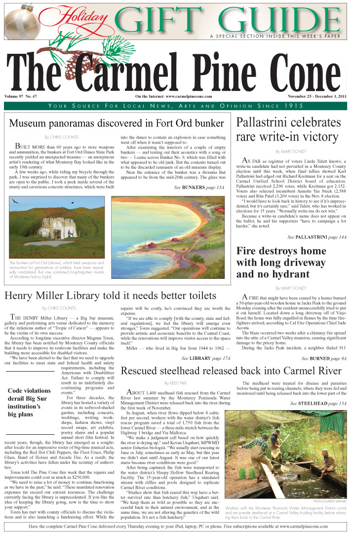 Click here to download the November 25, 2011, main news section