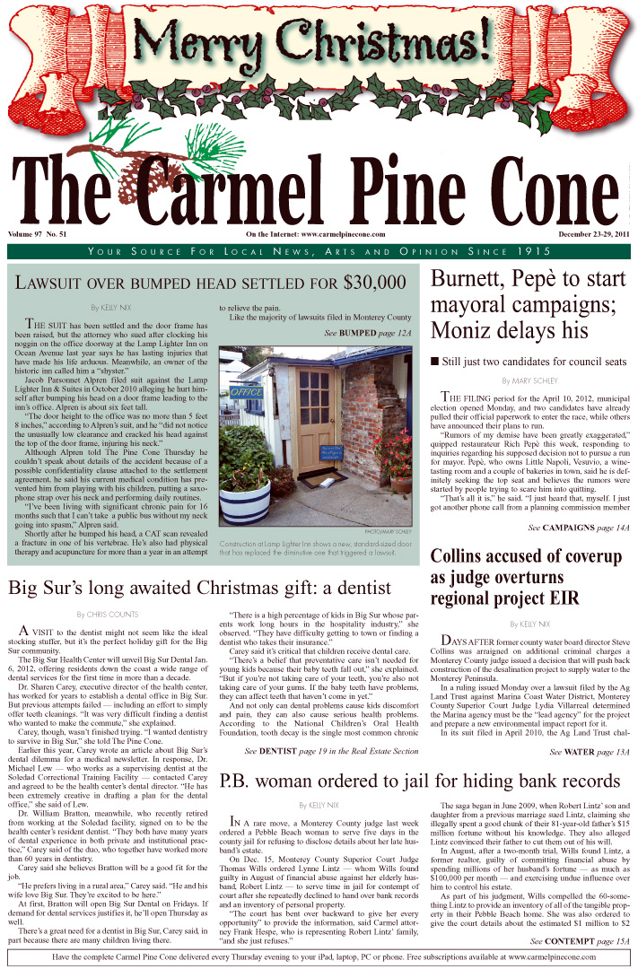 Click here to download the December 23, 2011, main news section