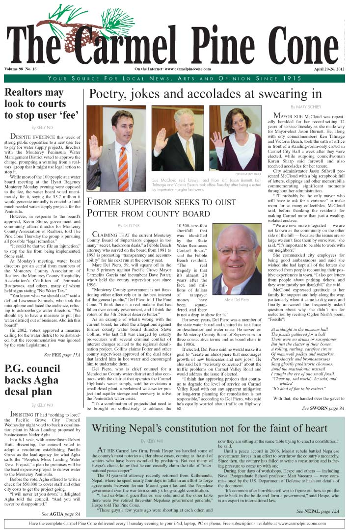 Click here to download the April 20, 2012, main news section